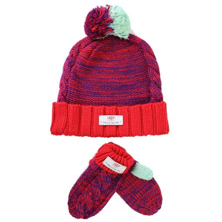 UGG Beanie and Mitten Combo (Toddler Kids') -