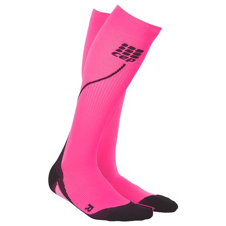 CEP Progressive Compression 2.0 Running Sock (Women's) - Pink/Black
