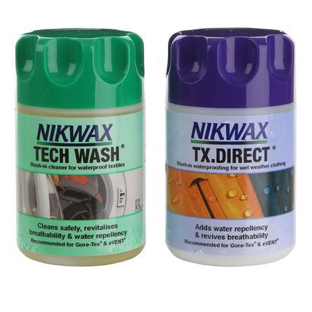 Nikwax Hardshell DuoPack Tech Wash and TX Waterproofer -