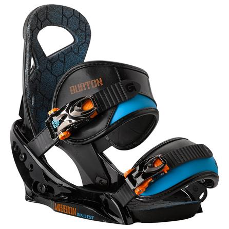 Burton Mission EST Smalls Snowboard Binding (Boys') - Black/Orange