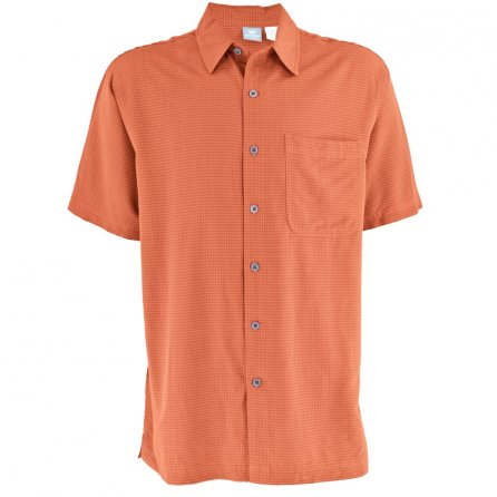 White Sierra Sandpiper Short Sleeve Shirt (Men's) - Rust