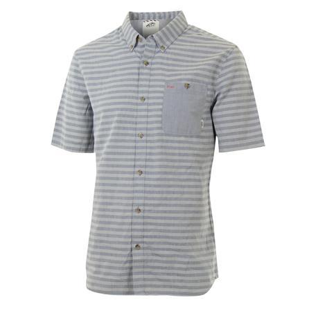 Vans Rusden Stripe Short Sleeve Shirt (Men's) - Frost Grey