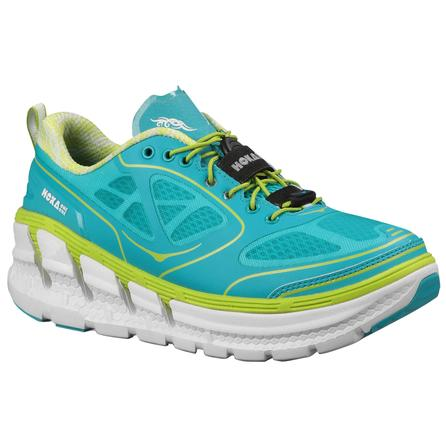 Hoka One One Conquest Running Shoe (Women's) - Aqua/White/Acid