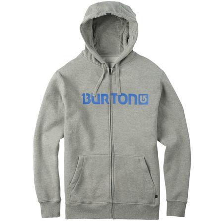 Burton Logo Horizontal Full-Zip Hoodie (Men's) - Gray Heather
