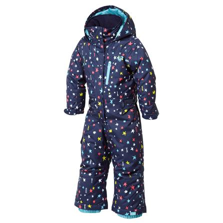 Roxy Teenie Paradise Jumpsuit Snowboard Suit (Little Girls') - Roxy Star/Peacoat
