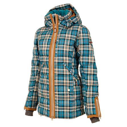 Roxy Torah Bright Influencer Insulated Snowboard Jacket (Women's) - TB Plaid/Ocean Depths