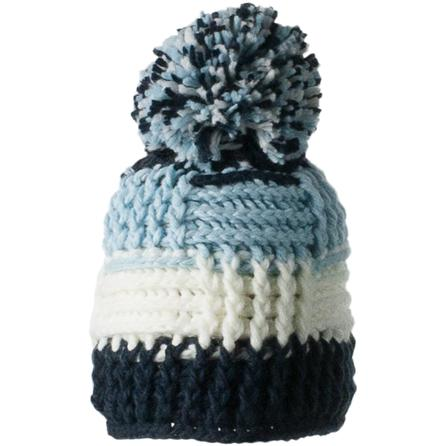 Obermeyer Patchwork Beanie (Girls') - Blue Iris/White/Limelight