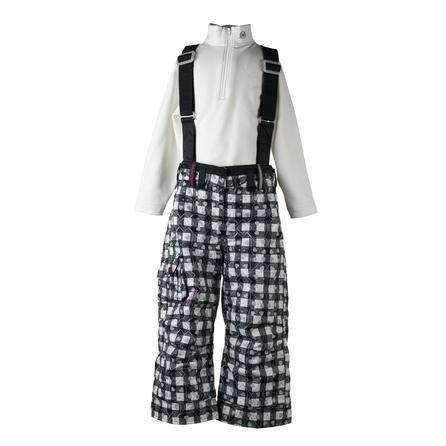 Obermeyer Utopia Ski Pant (Little Girls') - Black/White Heartstrings