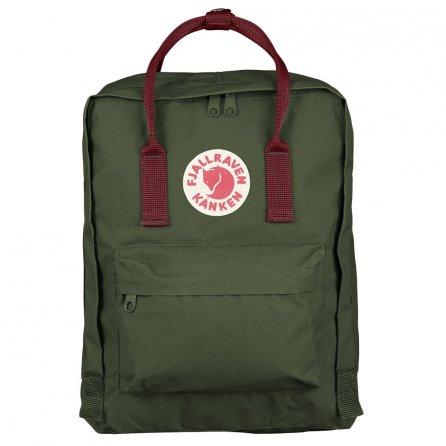Fjallraven Kanken Backpack - Forest Green/Ox Red