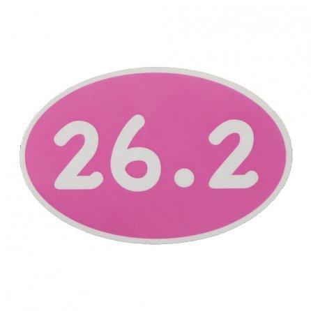 26.2 Marathon Car Magnet - Pink