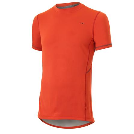 Kjus Tracker Short Sleeve Tee (Men's) - Paprika Red/Grey Owl