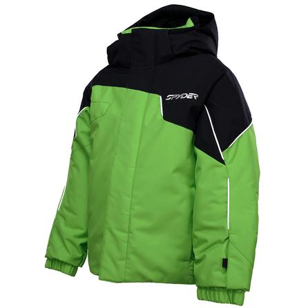 Spyder Mini Guard Insulated Ski Jacket (Little Boys') - Mantis Green/Black/White