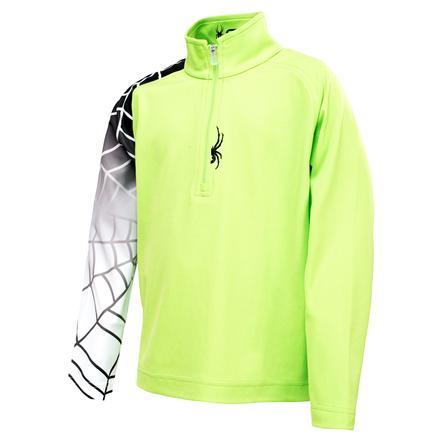 Spyder Mini Linear DryWEB Thermal Top (Little Boys') - Mantis Green/Black/White