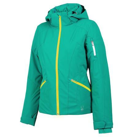 Spyder Project Insulated Ski Jacket (Women's) - Robins Egg/Bryte Yellow