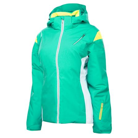 Spyder Prevail Insulated Ski Jacket (Women's) - Robins Egg/White/Bryte Yellow