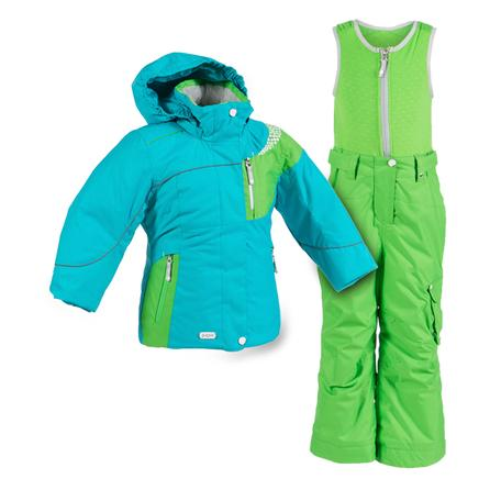 Jupa Aleksandra 2-Piece Ski Suit (Toddler Girls') - Blue Jay Bird/Parrot