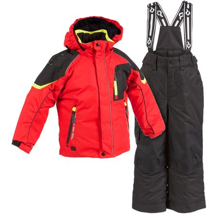Jupa Aleksander 2-Piece Ski Suit (Toddler Boys') - Pulp Red Print/Black