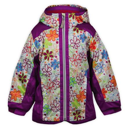Snow Dragons Kissable Ski Jacket (Little Girls') - Grape/Pink