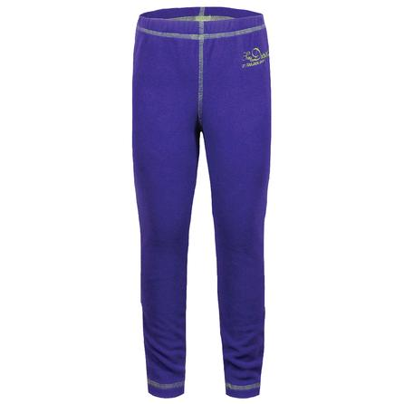 Snow Dragons Micro Fleece Tight (Little Girls') - Purplelicious