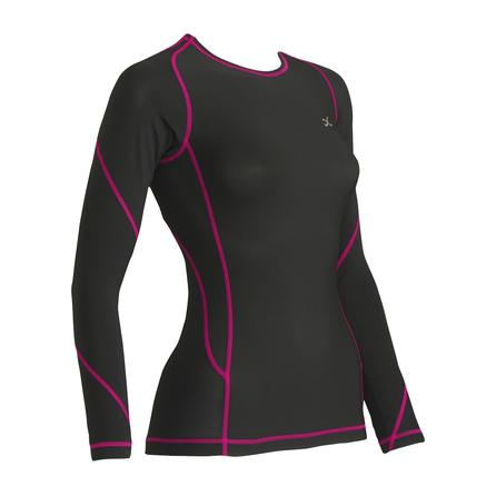 CW-X Traxter Long Sleeve Baselayer Top (Women's) - Black/Raspberry