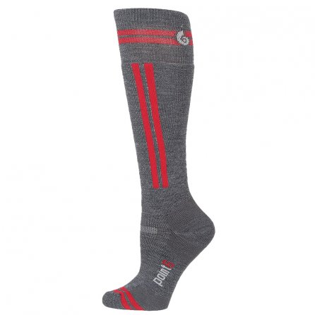 Point6 Snowboard Rail Sock (Adults') - Gray/Red
