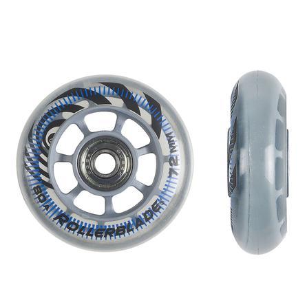 Rollerblade 72mm Inline Skate Wheel and Bearing 8-Pack Kit -
