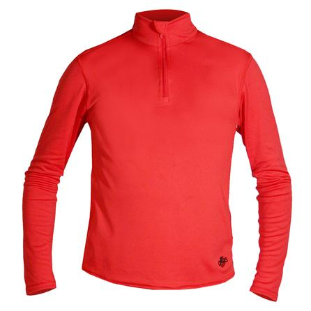 Hot Chillys PeachSkin Zip-T Baselayer Top (Kids') - Red