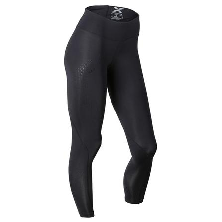 2XU Wide Waist Compression Baselayer Tight (Women's) - Black/Dotted