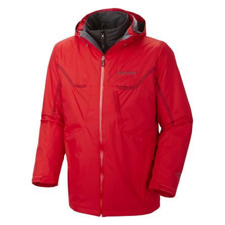 Columbia Whirlibird Interchange Big 3-in-1 Ski Jacket (Men's) - Bright Red
