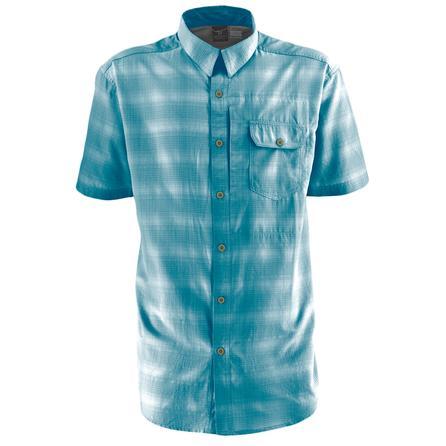 White Sierra Ningaloo Short Sleeve Shirt (Men's) - Light Moroccan Blue
