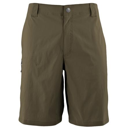 White Sierra Fixed Waist Traveler Short (Men's) - Dark Bark