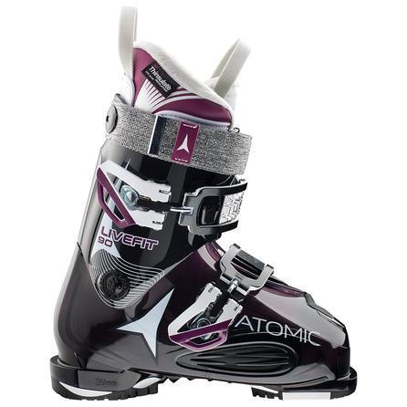Atomic Live Fit 90 Ski Boot (Women's) - Transparent Purple/Black