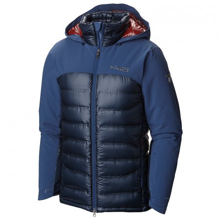 Columbia Heatzone 1000 Turbodown Ski Jacket (Men's) - Night Tide/Collegiate Navy/Rust Red