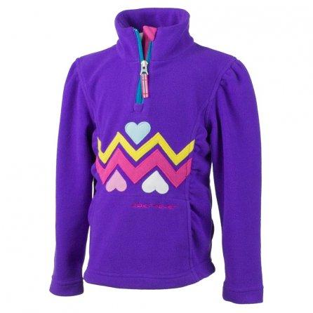 Obermeyer Ric Rac Fleece Mid-Layer (Little Girls') - Iris Purple