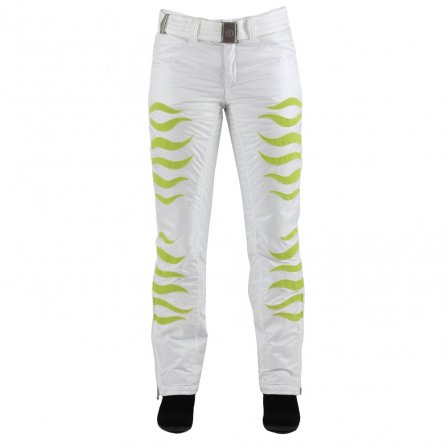 Bogner Nala Insulated Ski Pant (Women's) - Off White/Lime