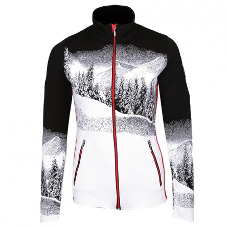 Newland Mountain Landscape Full-Zip Sweater (Women's) - Black/White