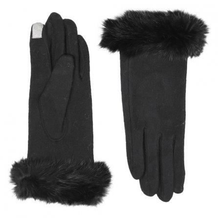 Elan Blanc Jersey Knit Smart Tip Gloves (Women's) -