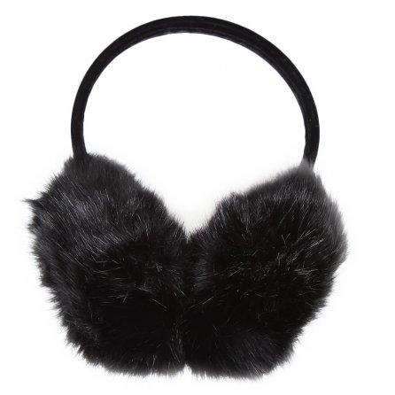 Elan Blanc Jumbo Faux Fur Earmuffs (Women's) - Black