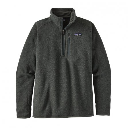 Patagonia Better Sweater 1/4-Zip Mid-Layer (Men's) - Carbon/Nouveau Green