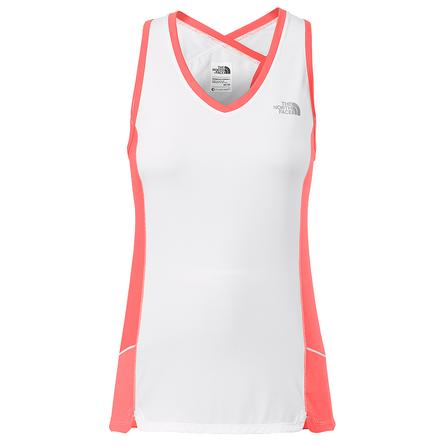 The North Face GTD Tank Top (Women's) - TNF White/Fiery Coral