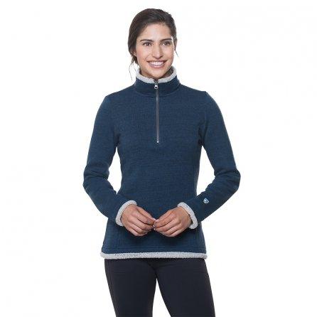 Kuhl Alska Half Zip Sweater (Women's) - Harbor Green