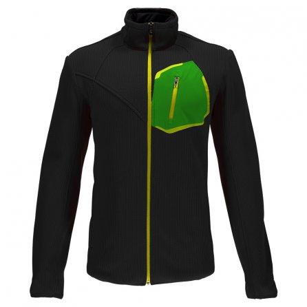 Spyder Paramount Full Zip Mid Wt Stryke Fleece Jacket (Men's) - Black/Blade/Bryte Yellow