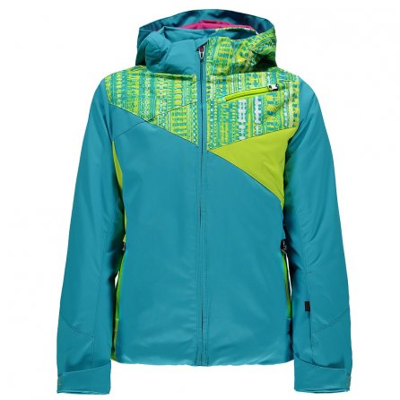 Spyder Project Insulated Ski Jacket (Girls') - Bluebird/harmony/Acid
