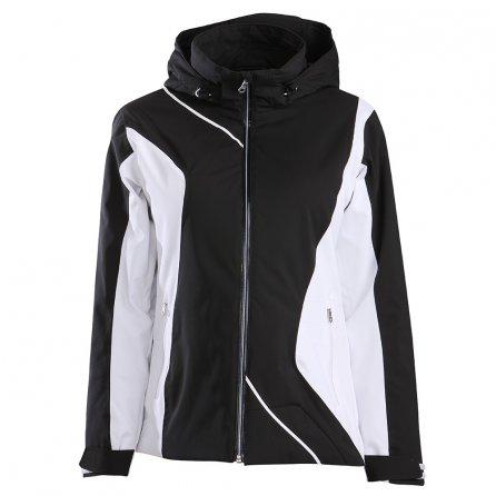 Descente Danica Insulated Ski Jacket (Women's) - Black/Super White/Super White