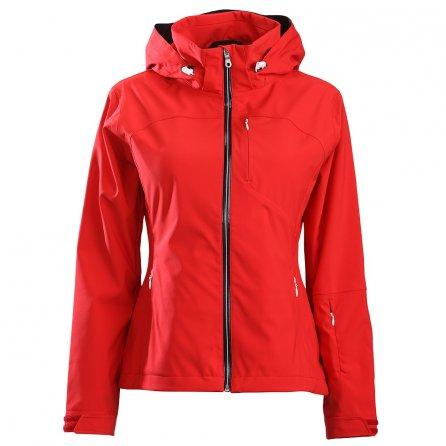 Descente Lotus Shell Ski Jacket (Women's) - Electric Red/Super White