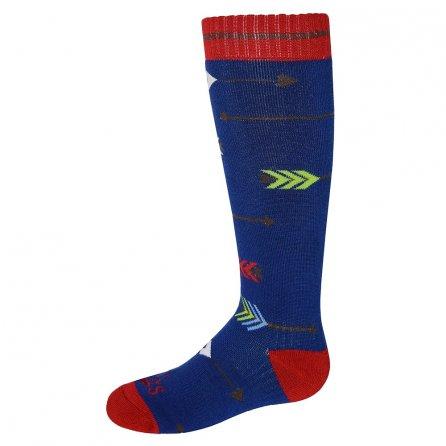 Hot Chillys Flying Arrows Mid Volume Ski Sock (Kids') - Flying Arrows/Blue