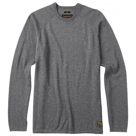 Burton Stowe Raglan Sweater (Men's) - Dark Ash Heather