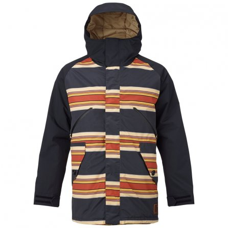 Burton Breach Insulated Snowboard Jacket (Men's) - Vintage Stripe/True Black/Kelp