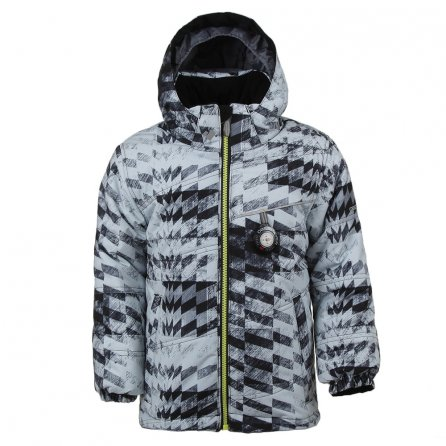 Obermeyer Stealth Insulated Ski Jacket (Little Boys') - Grey Coat of Arms