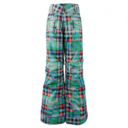 Obermeyer Jessi Insulated Ski Pant (Girls') - Plaid Haze